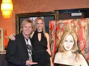Eric Waugh's Painting Kristin Bauer Straten Charity!