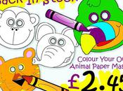 Children`s Colour Activity Masks Back Stock Party Options
