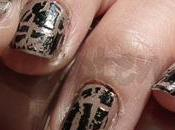 Swatches:Nail OPI: Black Shatter Over Leighton Denny Supermodel Nail Polish