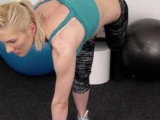 Twisted Jump Squat Exercise