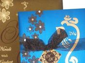 Stylish Design Matching Ribbon Fabulous Indian Wedding Card