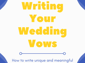 Tips Writing Your Wedding Vows