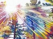 Rainbow Forest Painting: Prismatic Canopy