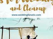 Tips Wedding Setup Cleanup