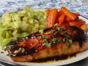 Pan-Seared Salmon with Sweet Spicy Asian Glaze