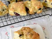 Easy Rustic Cafe-style Blueberry Cream Scones That Buttery Biscuity with Moist Flaky Inside