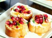 Crostini with Goat Cheese Pomegranate