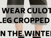 Wear Culottes Wide Crop Pants Winter