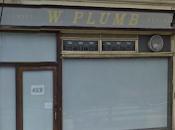 Plumbs Butcher, Hornsey Road, Reveal Older Sign