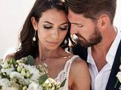 Romantic Wedding Santorini with White Flowers Greenery Alexis
