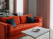 Modern Apartment with Vibrant Pops Orange