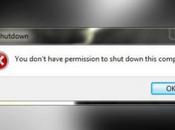 Don't Have Permission Shutdown This Computer Error Windows
