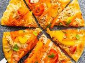 Thai Chicken Naan Pizza
