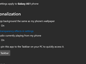 Windows Your Phone Showing Audio Currently Playing