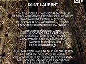 Saint Laurent Steps Fashion Week