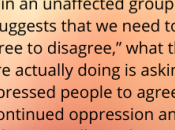 Can't Agree Disagree About Fat-Shaming Kind Oppression)