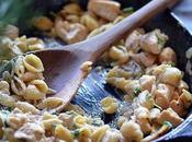 Italian Chicken Creamy Garlic Shells Pasta