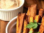 Sweet Potato Fries with Fat-free Garlic Aioli