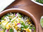 Charred Corn Salad with Feta, Mint Quinoa