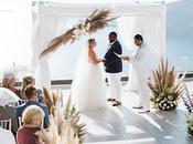 Intimate Destination Wedding Santorini with Pampas Grass Leanne Cecil