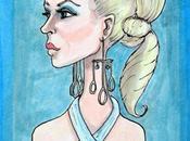 PAINT Women Star Trek, Droxine Sketch Card