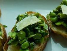 Broad Bean Mint Bruschetta