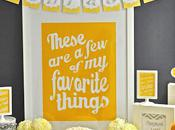 98th Birthday Party, Gorgeous Yellow Grey Themed Party Meghily Style