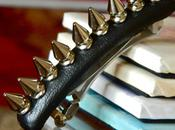 Leather Spiked Barrette