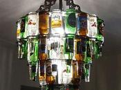 Beer Bottle Chandeliers