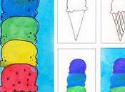 Cream Cone Watercolor Painting