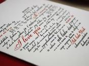 Print Wedding Vows Shape Heart