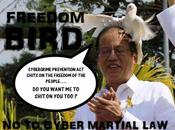 Freedom Bird Shits PNoy Cyber Martial