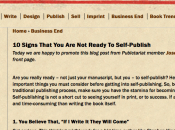 Signs That Ready Self-Publish