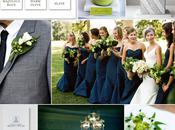 Wedding Color Palette: Gray, Green Navy