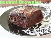 Zucchini Brownies with Minute Chocolate Frosting