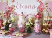 Vintage Lemon Pink Themed Baptism Life Sweet Candy Buffets