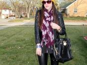 Outfit: Faux Leather with Pops Color