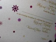 Snowflake Wedding Invitations, Fairy Lights Sparkle!
