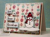 "Susan Weckesser Unity Stamp Blog Easy Christmas Card ""Let Snow Gumdrops"""