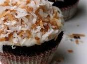 Dark Chocolate Coconut Cupcakes