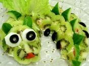 Russian Year Salad: Snake Kiwi Chicken Style