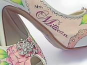 Amazing Unique Hand Painted Wedding Shoes from Soulier