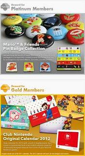 Club Nintendo 2011 Elite Status Gifts