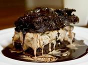 Salted Caramel Brownies with Roof Cream