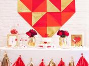 "Stunning ""Love Gold"" Valentine's Table Rock Paper Scissors"