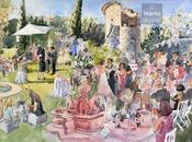 Make Most Your French Wedding Scenery… Have Live Painter!