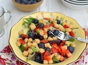 Chickpea Vegetable Salad with Yogurt Tahini Dressing