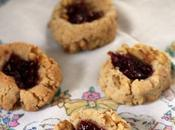 Raspberry Walnut Thumbprint Cookies