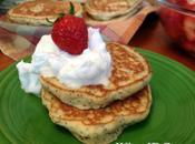 """Lemon Poppyseed Pancakes with Whipped Coconut """"Cream"""" Agave-Macerated Strawberries (GF/DF)"""