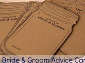 Bride Groom Advice Cards